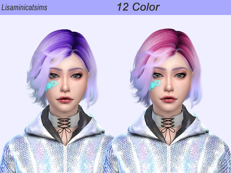 Colorful Wings Hair Sims4 Ombre