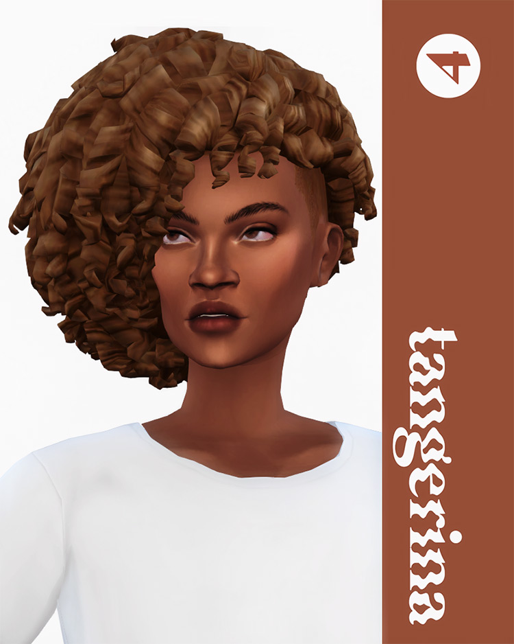 Tangerina afro-style hairdo for girls - Sims 4 CC