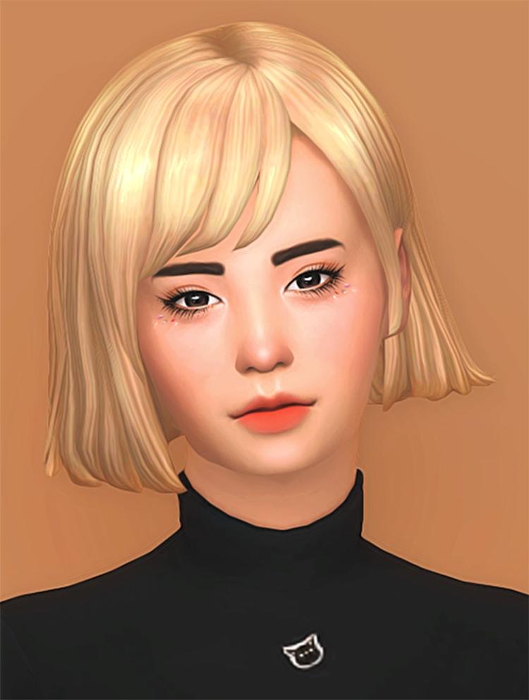 Maxis Match blonde hair CC for Sims 4