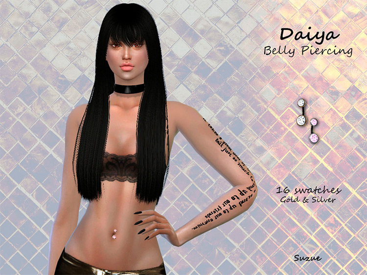 Daiya Belly Piercing CC for Sims 4