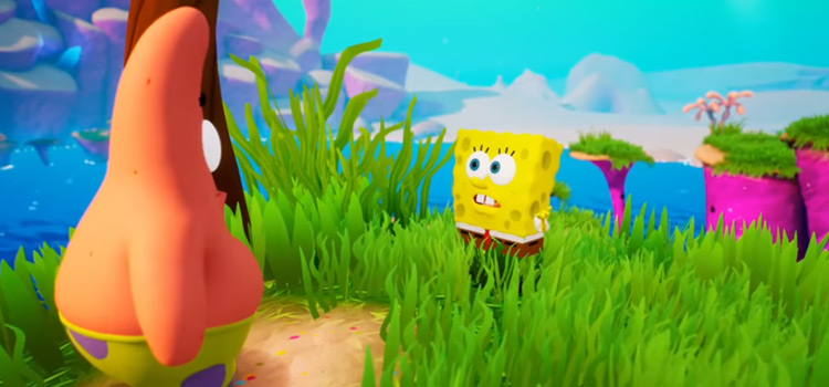 Patrick and SpongeBob screenshot in BFBB HD Rehydrated