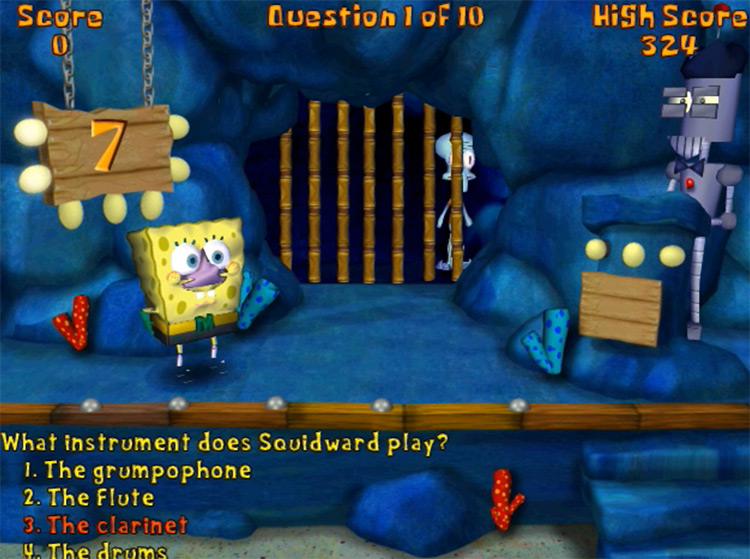 SpongeBob SquarePants: BBB 2003 question screenshot