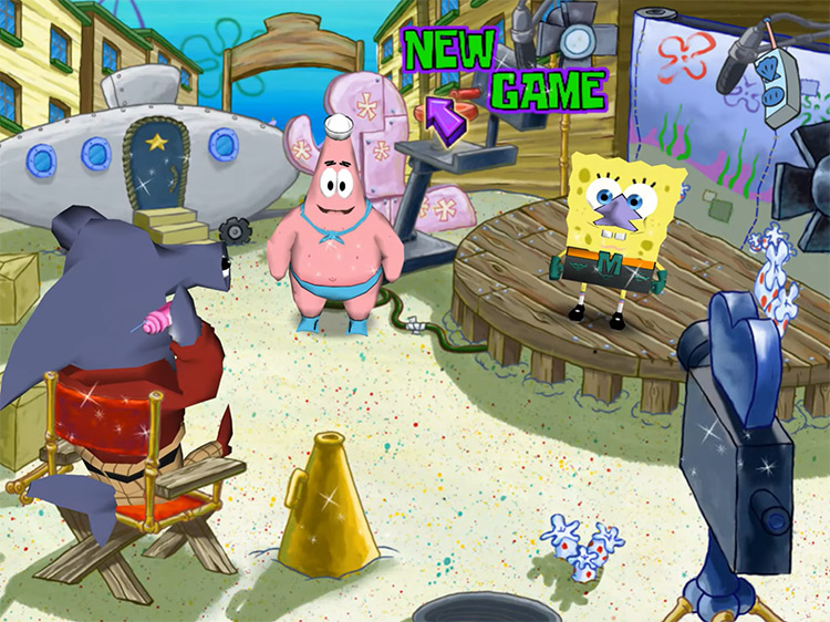 New game menu screenshot - SpongeBob SquarePants: Lights, Camera, PANTS!