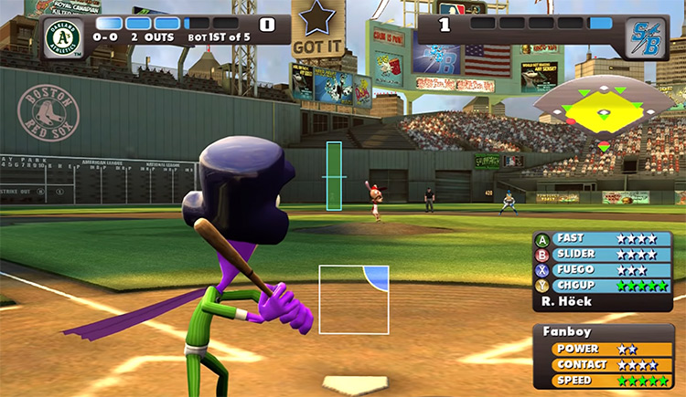Nicktoons MLB gameplay screenshot