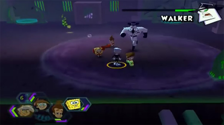 Walker battle Nicktoons Unite!