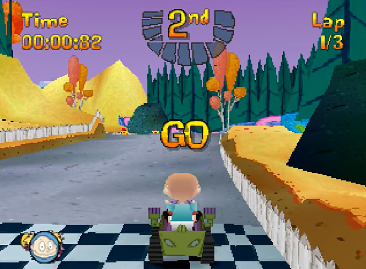 Nicktoons Racing game screenshot