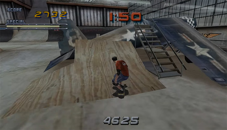Tony Hawk Pro Skater 2 gameplay screenshot