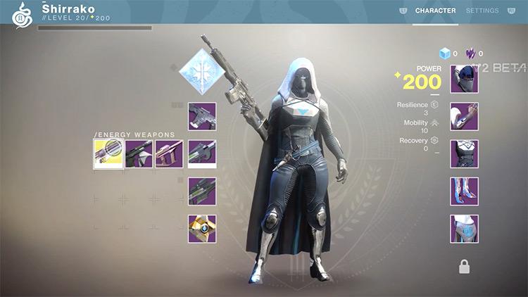 Destiny 2 character menu screenshot