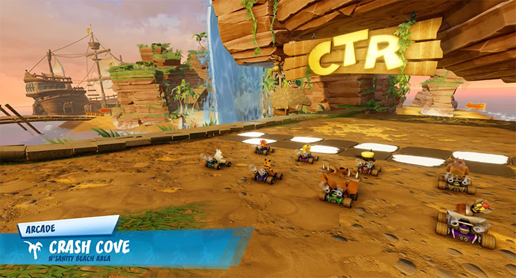 Crash Cove area in Crash Team Racing: Nitro-Fueled