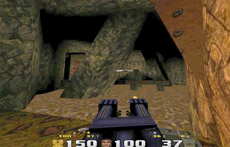 Quake gameplay screenshot