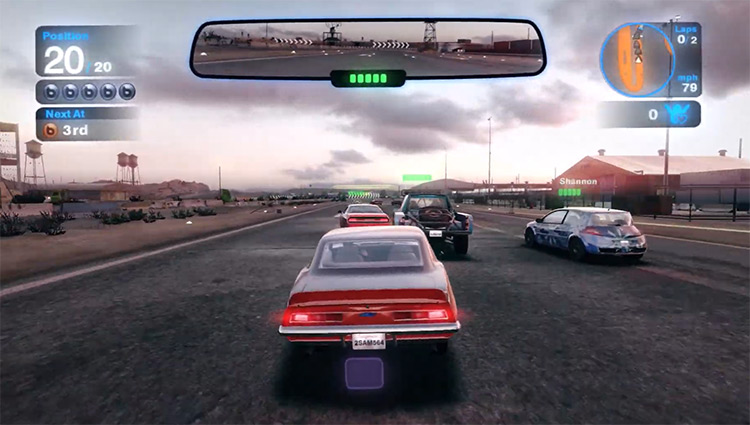 Car race in Blur 2010 Video Game