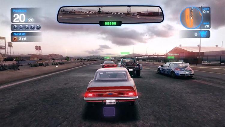Car race in Blur 2010 Video Game