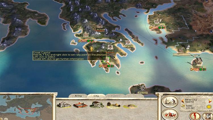 Rome: Total War gameplay screenshot