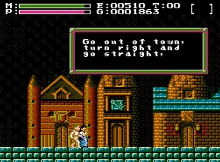 Faxanadu gameplay screenshot