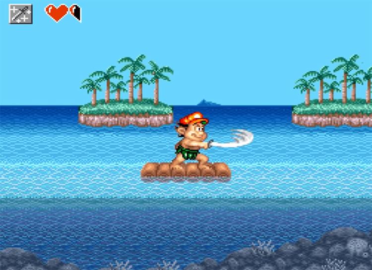 Adventure Island II gameplay screenshot