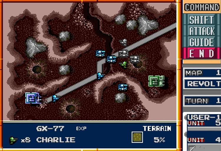 Military Madness gameplay screenshot