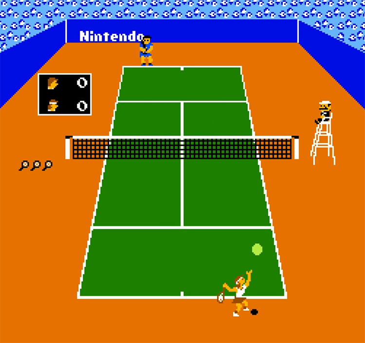 Vs. Tennis 1985 NES screenshot