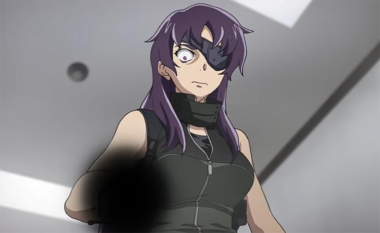 Shocked anime girl with purple hair Minene Uryuu
