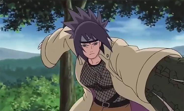 Anko battling in Naruto anime
