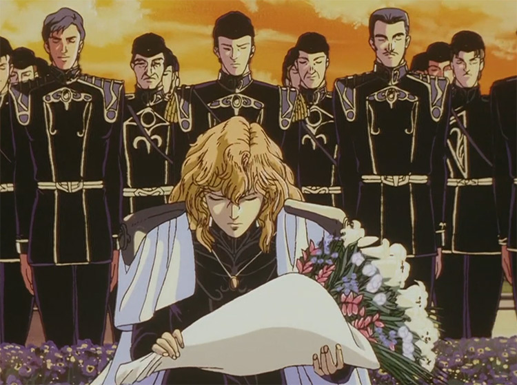 Funeral Scene - Legend of the Galactic Heroes Anime