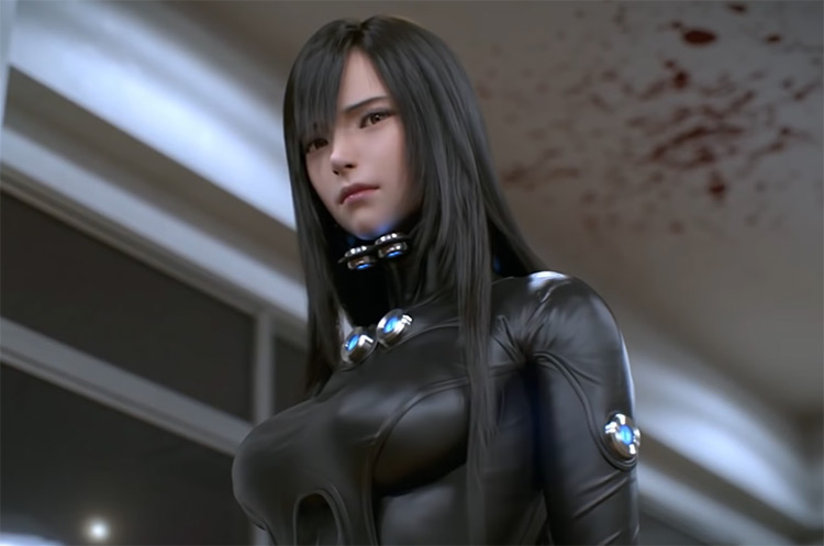 Girl character in Gantz: 0 Anime