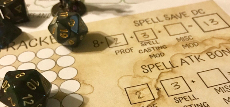 Custom Spell Tracker for Dungeons & Dragons 5th Edition