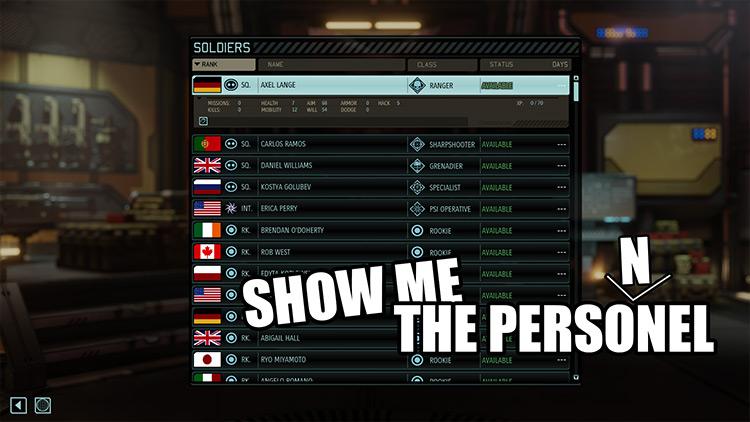 ShowMeThePersonel XCOM 2 mod screenshot