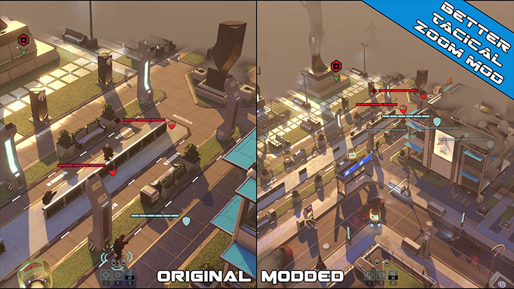 Better Tactical Zoom Out XCOM 2 mod