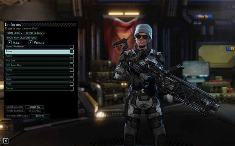 Uniforms Manager XCOM 2 mod screenshot