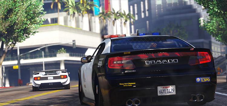 Police Dispatch chase screenshot - GTA5 Mod