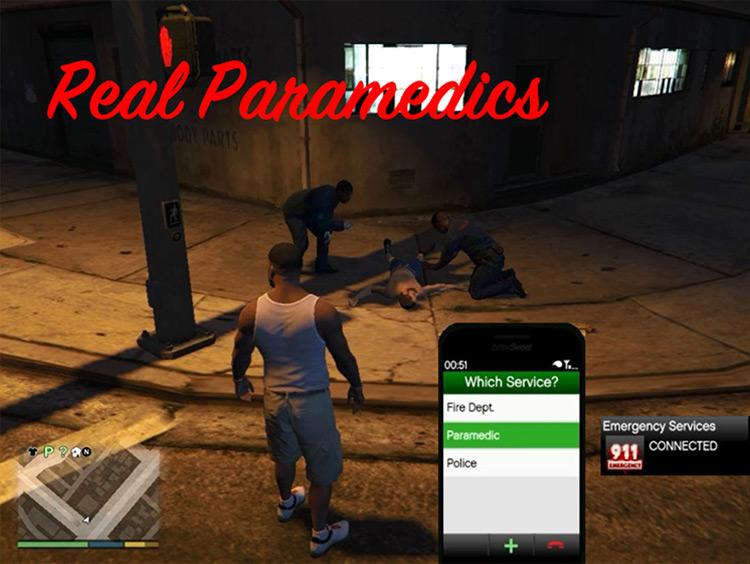 Real Paramedics GTA 5 Realism mod
