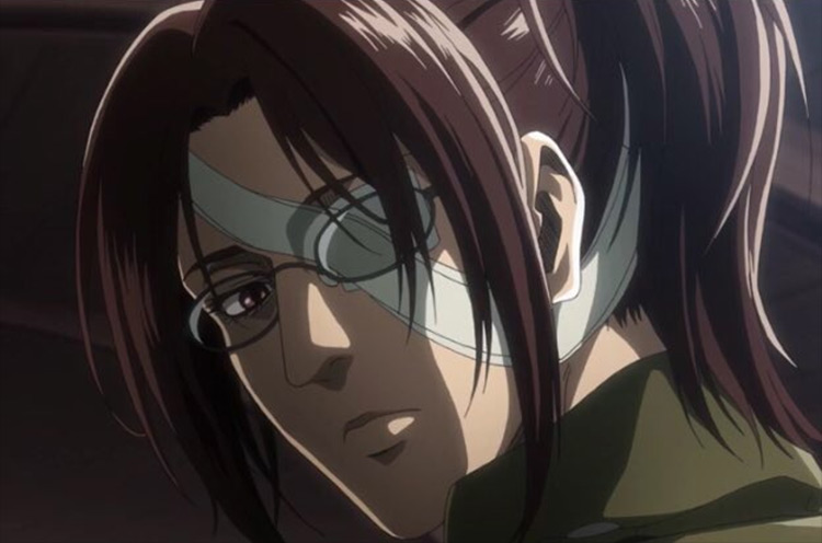 Hange Zoë from Attack on Titan anime