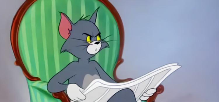 Tom reading the newspaper - meme template HD screenshot