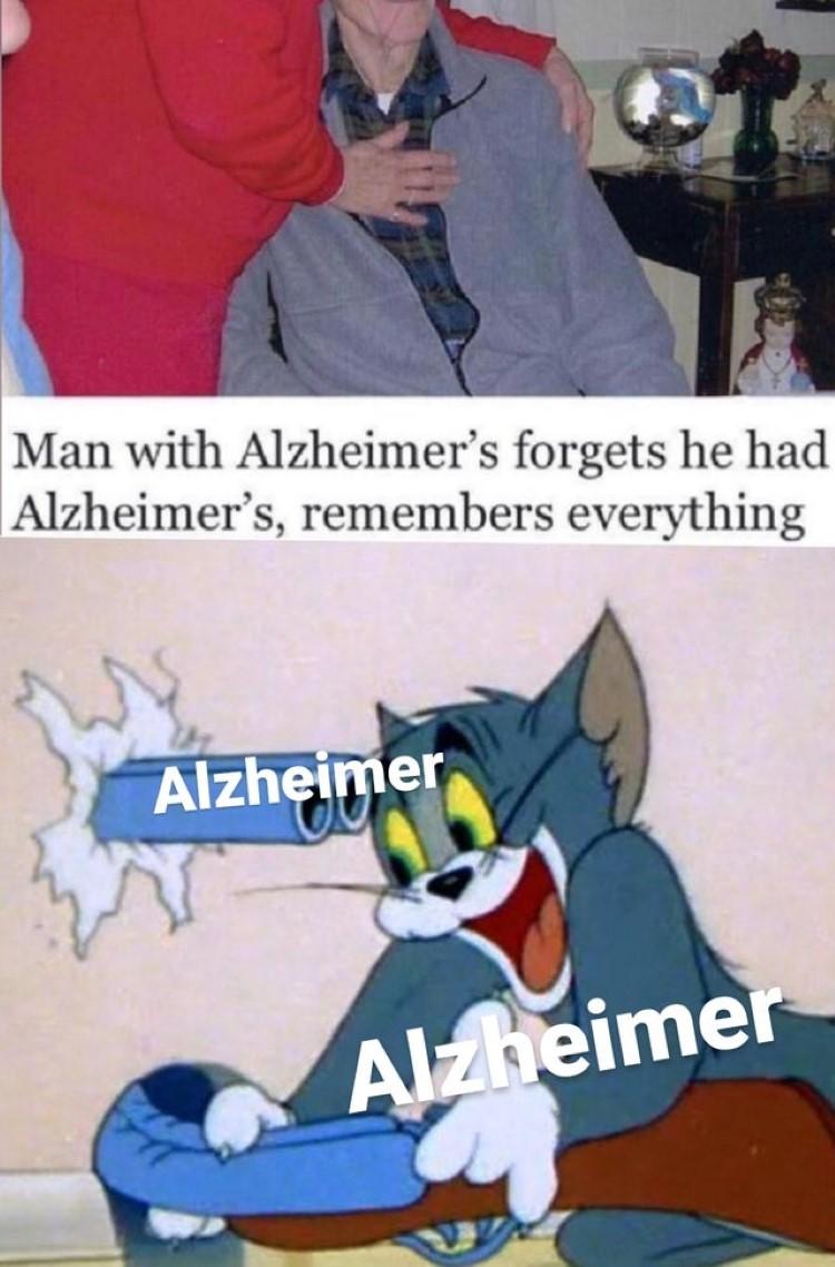 Alzheimers Tom meme