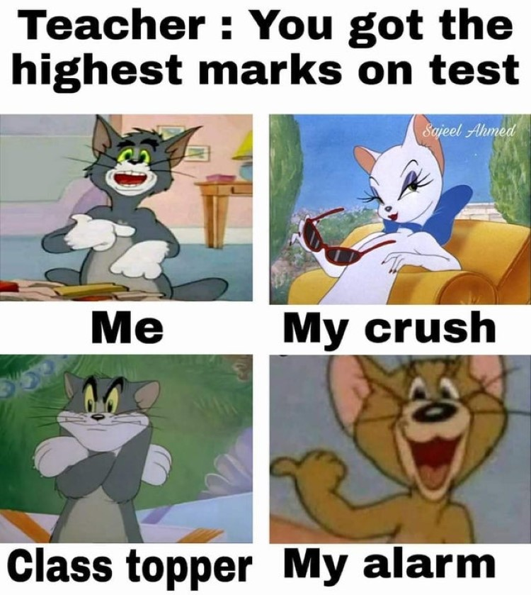 Highest marks on test meme