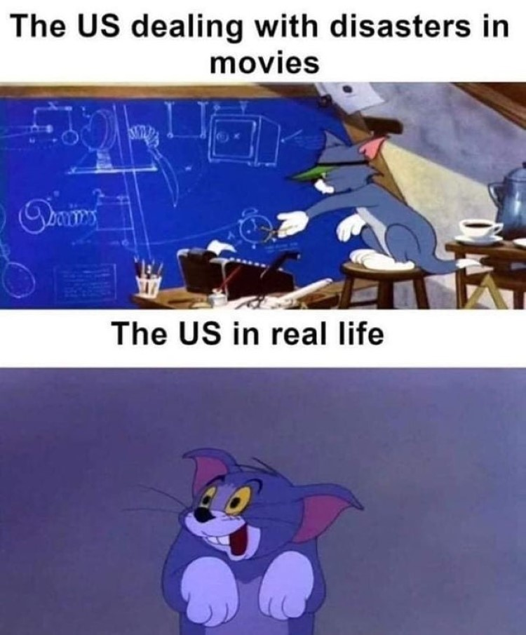 US dealing with disasters in movies vs real life