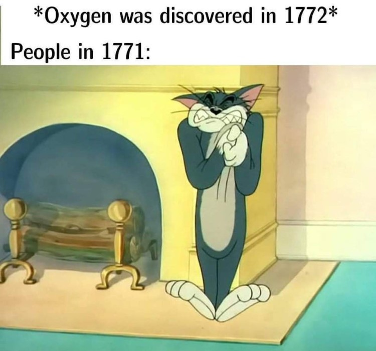 People discovered oxygen Tom meme