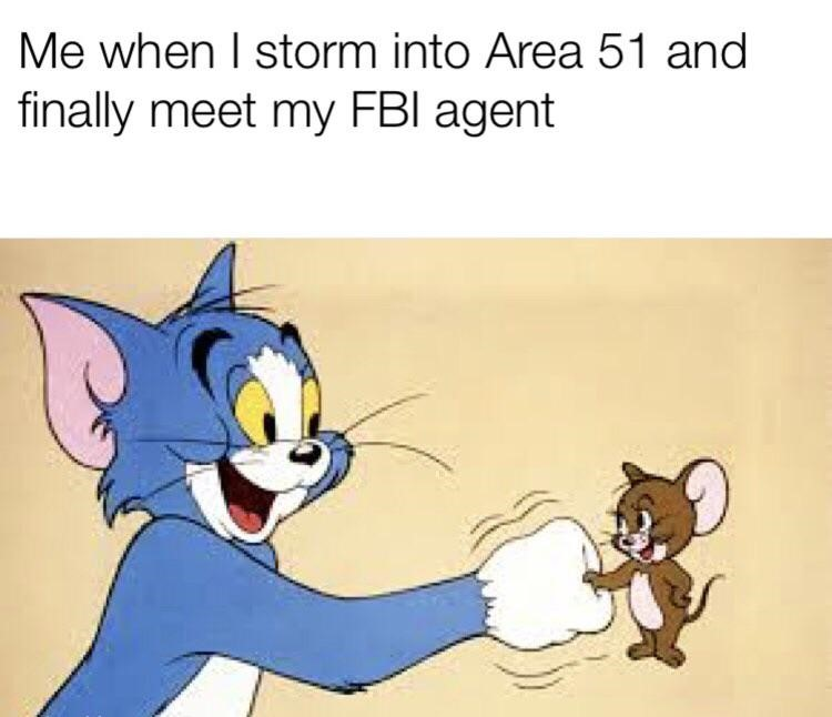 Me when I storm are 51 - Tom Jerry meme