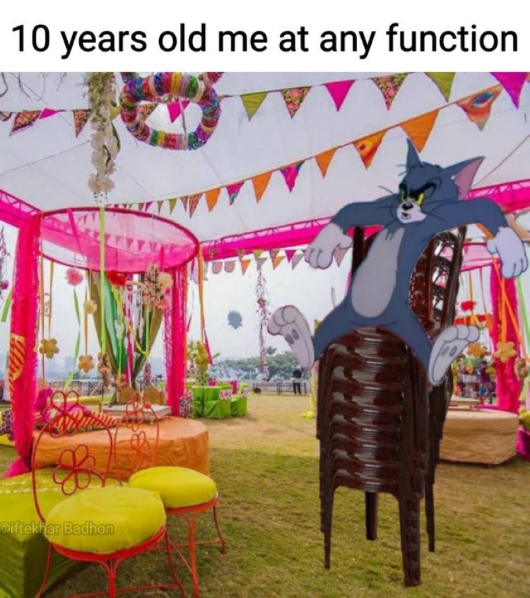 10 y/o me at a function meme