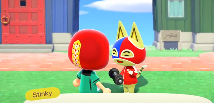 Stinky in Animal Crossing ACNH