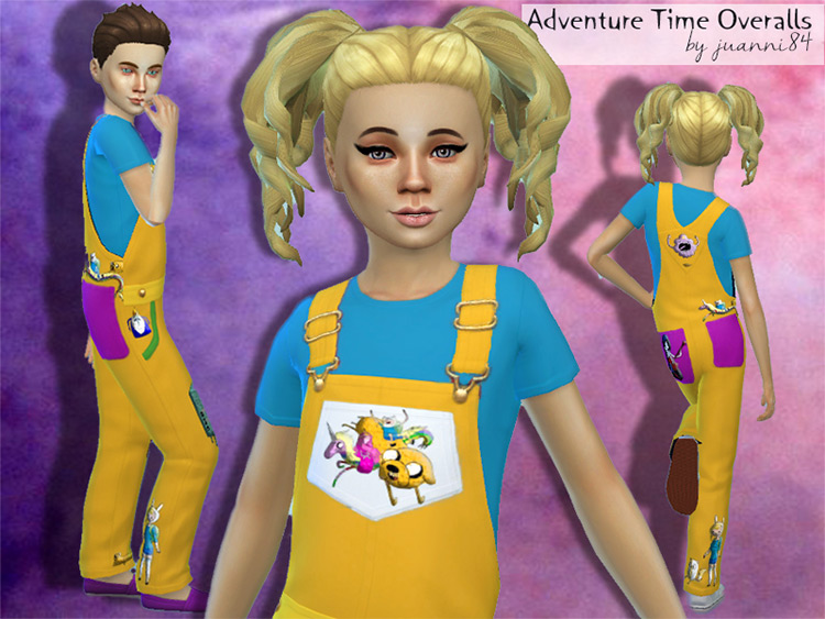 Adventure Time Overalls - Sims 4 Clothes CC