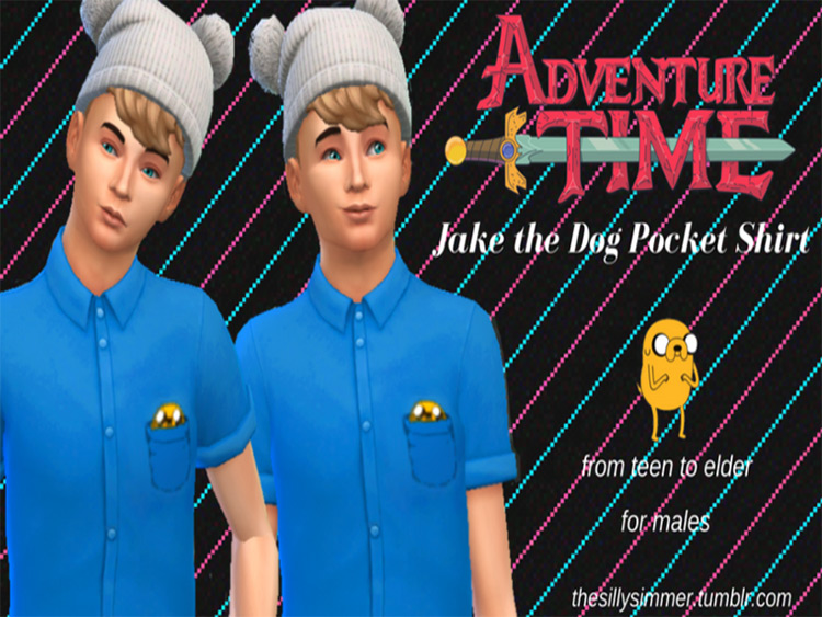 Jake The Dog Pocket Shirt - TS4 CC