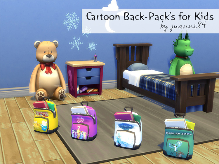 Cartoon Backpack For Kids - Sims 4 CC