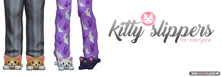 Kitty Slippers for Sailor Moon TS4 fans