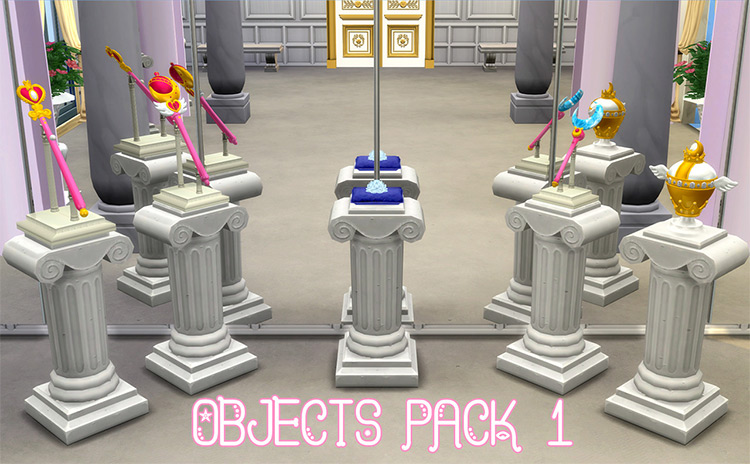 Sailor Moon Objects Pack - TS4 CC