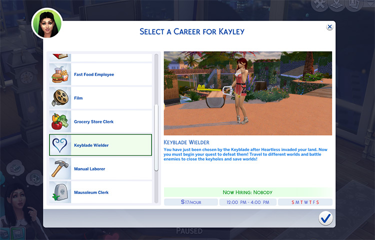 Kingdom Hearts Career Mod for The Sims 4