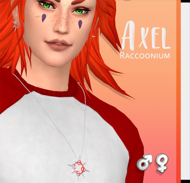 Axel attire in The Sims 4