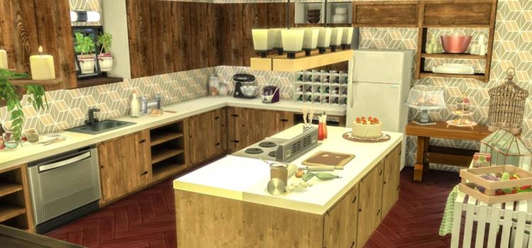 Rustic Kitchen Interior - Sims 4 Screenshot