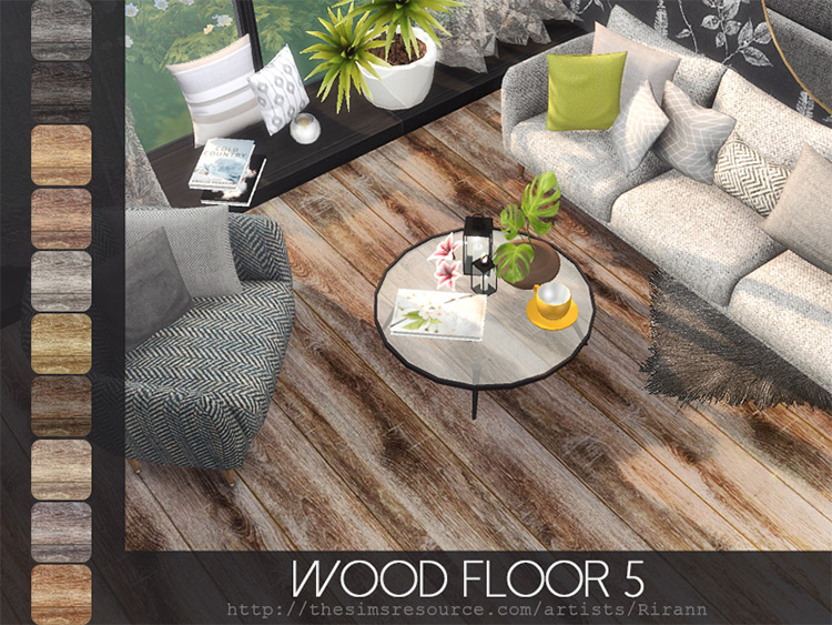 Wood Flooring CC Set for The Sims 4