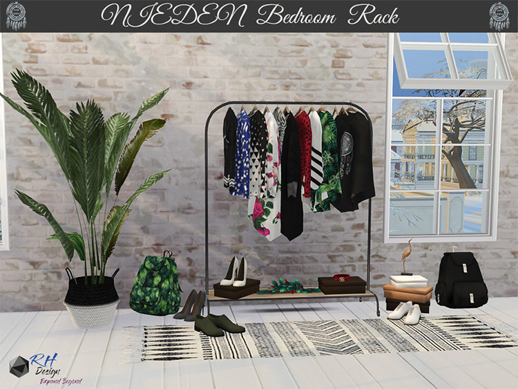 Nieden Bedroom Rack Furniture for The Sims 4